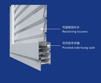 Aluminum alloy shutters-detail