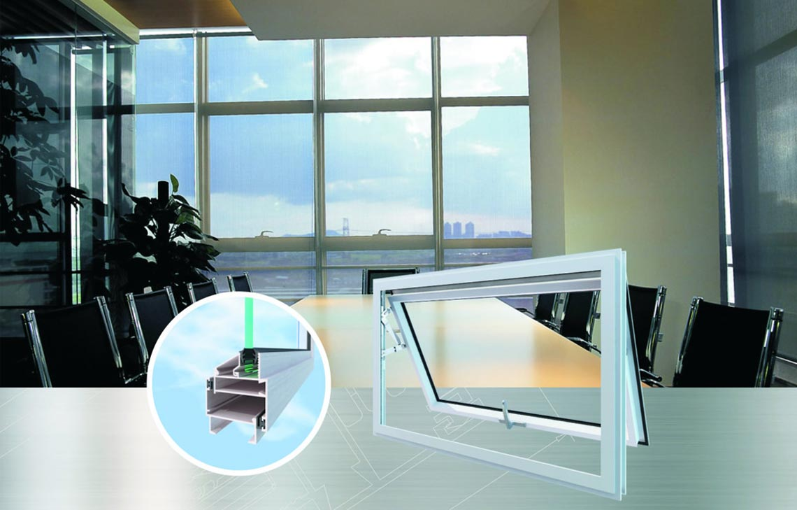 JM45 series out-swinging casement windows and overhung windows