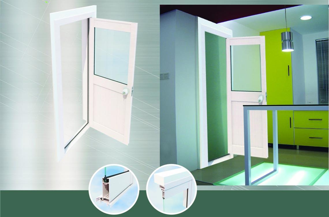 PM70 series vertical hinged doors